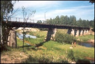 Мост через р. Лух в Талицах