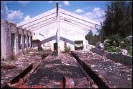 Развалины депо Голышево, две смотровые канавы