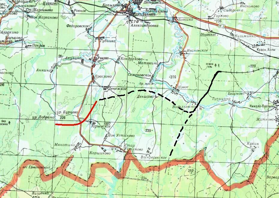Карта-схема с новыми ветками